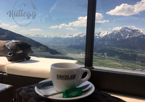 Coffee break with panorama - Hotel Sonnleiten